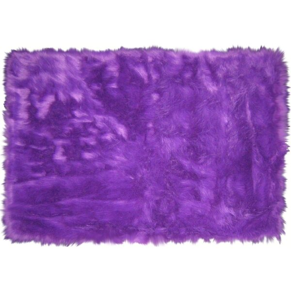Flokati Purple Area Rug by L.A. Rugs