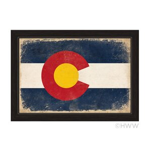 'State of Colorado Flag' Framed Painting Print by Union Rustic