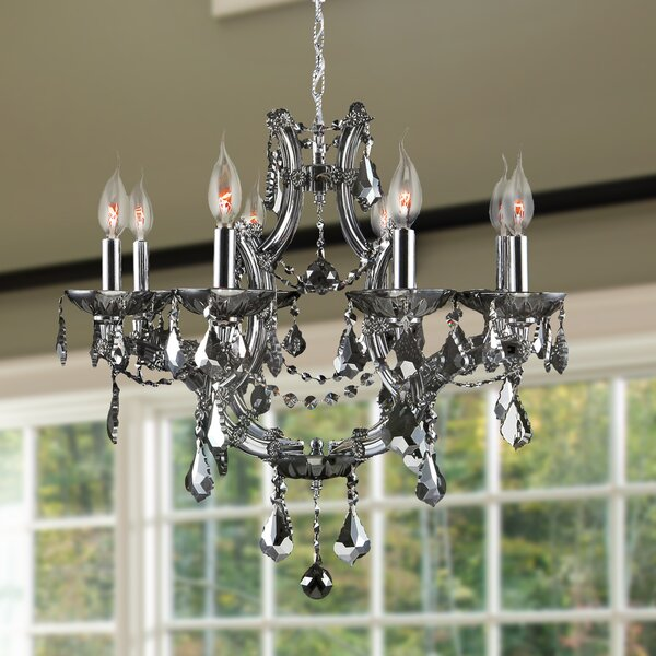 Zhora 8 - Light Candle Style Empire Chandelier by Willa Arlo Interiors Willa Arlo Interiors