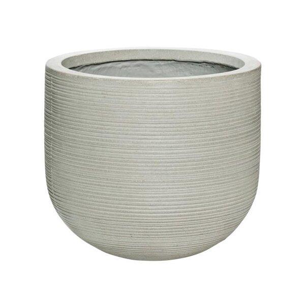 Ridged Textured Decorative Ficonstone Pot Planter by Pottery Pots