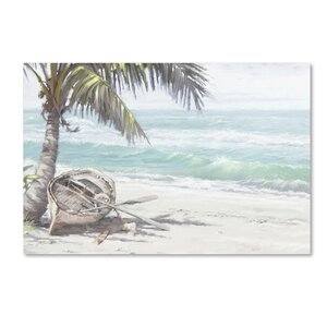 'Boat on Beach' Print on Canvas by Trademark Fine Art