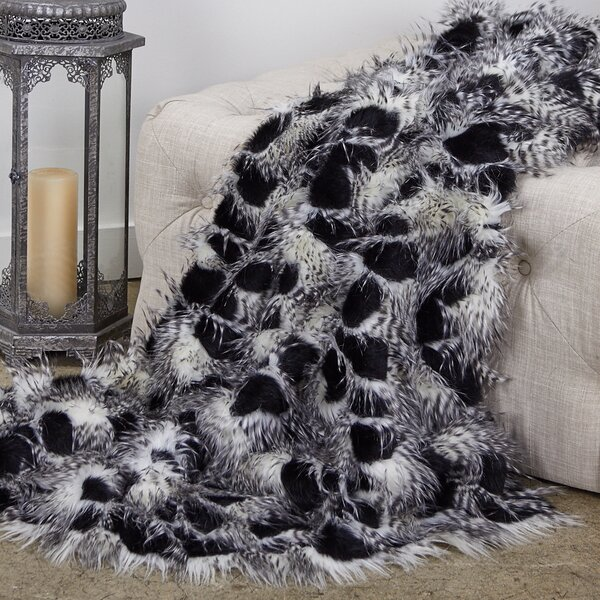 Reed Porcupine Luxury Faux Fur Throw by Everly Quinn