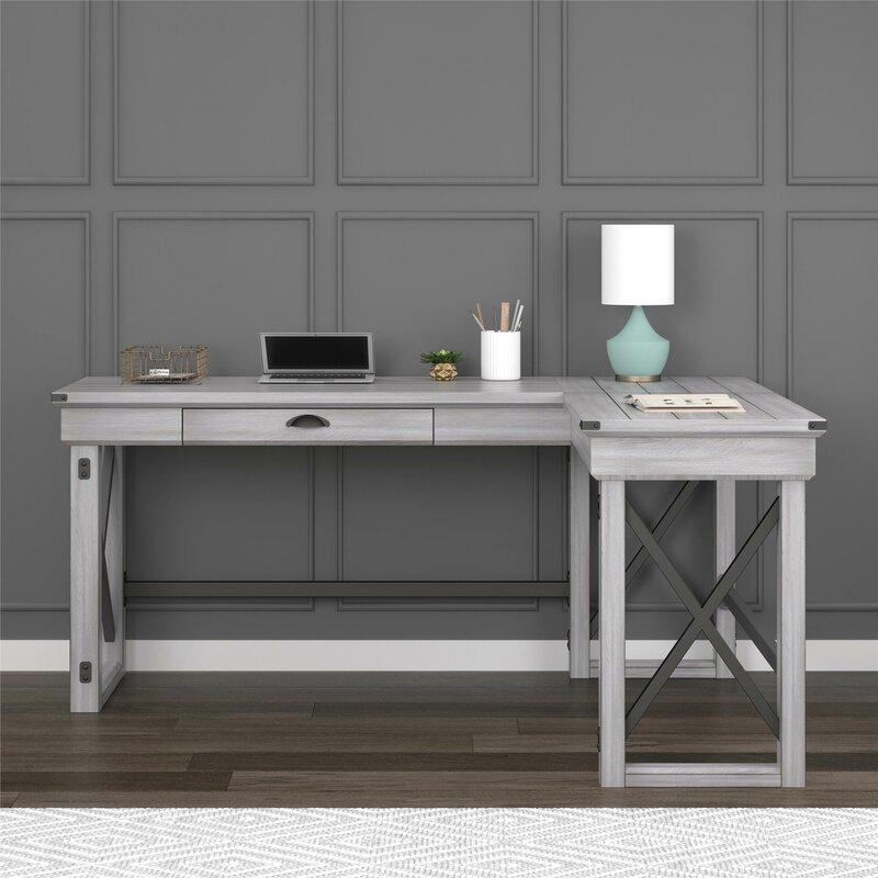 Gladstone L Shape Standing Desk Amp Reviews Birch Lane