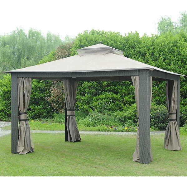 Replacement Curtain for 10u0027 W x 12u0027 D Wicker Gazebo  sc 1 st  Wayfair & Sunjoy Replacement Canopy for 10u0027 W x 10u0027 D Tulip Gazebo u0026 Reviews ...