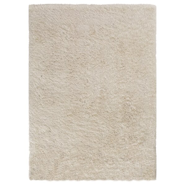 Ramhit Shag Ivory Area Rug by Ebern Designs