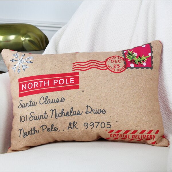 North Pole Special Delivery Lumbar Pillow by One Bella Casa