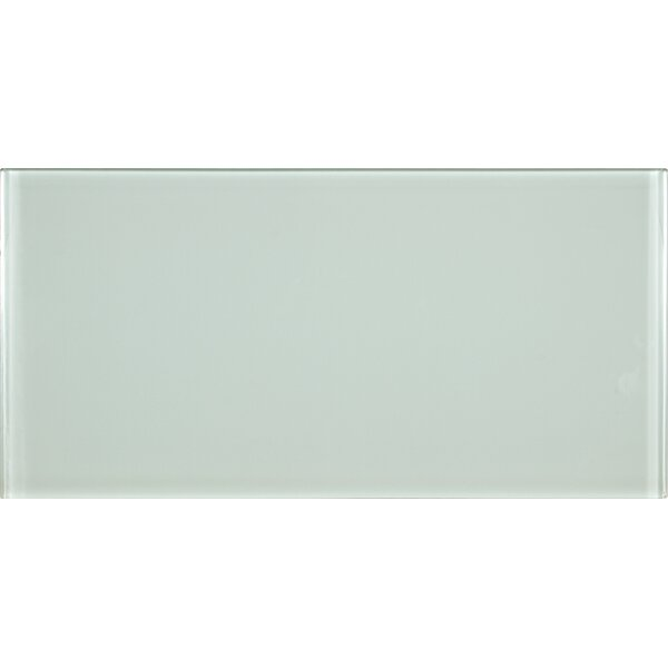 Arctic Ice 6 x 12 Glass Field Tile in White by MSI