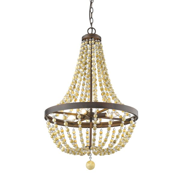 Prather 4-Light Unique / Statement Empire Chandelier By Bay Isle Home