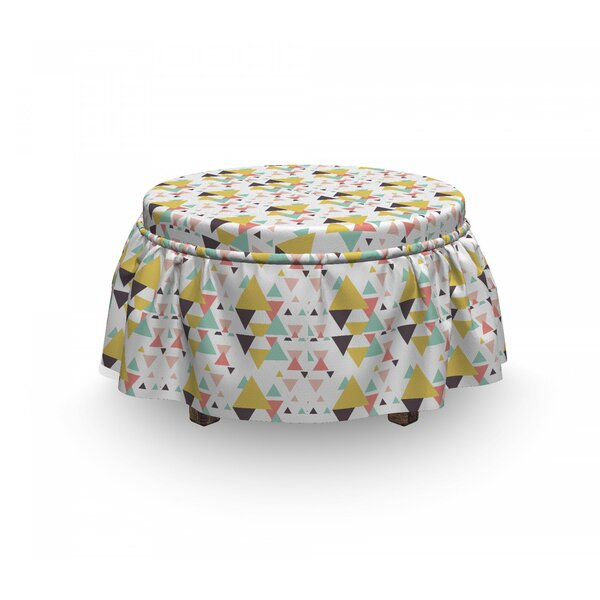 Geometric Illustration Ottoman Slipcover (Set Of 2) By East Urban Home