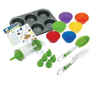 16-Piece Non-Stick Cupcake and Decorating Set By Curious Chef
