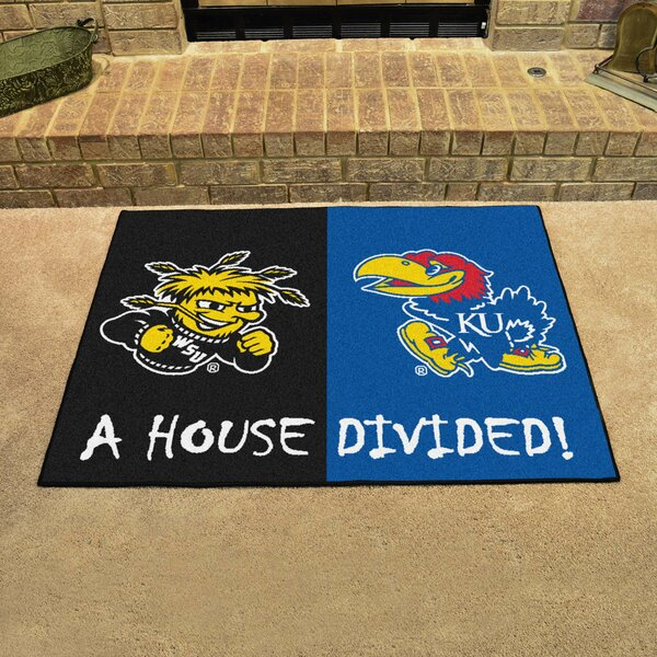 House Divided - Wichita State / Kansas Doormat by FANMATS