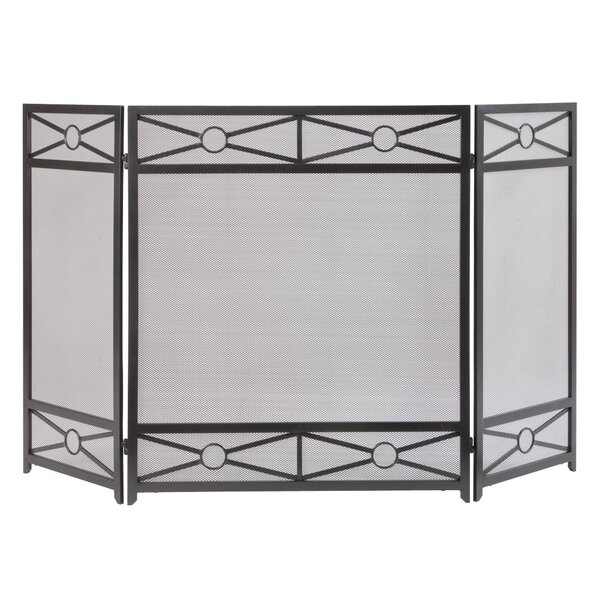 Sheffield 3 Panel Steel Fireplace Screen By Pleasant Hearth
