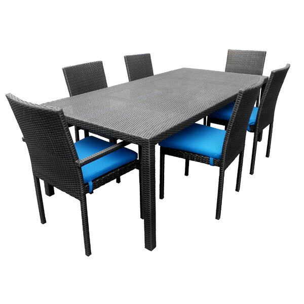 Bateman 7 Piece Patio Dinning Set with Cushions by Red Barrel Studio