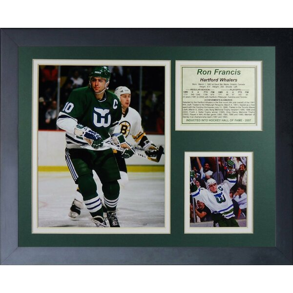 Ron Francis - Hartford Whalers Framed Memorabilia by Legends Never Die