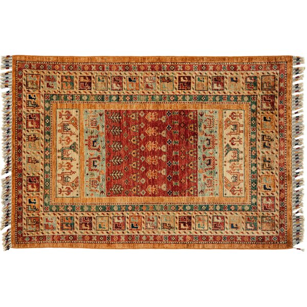 One-of-a-Kind Tribal Hand-Knotted Red Area Rug by Darya Rugs