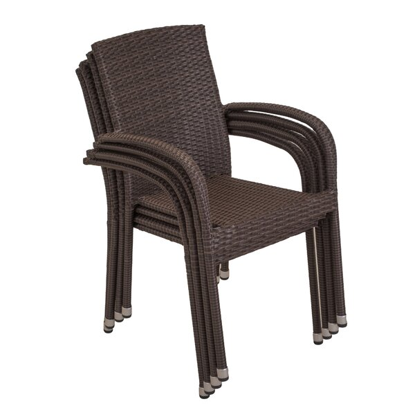 Avalon Stacking Patio Dining Chair (Set Of 4) By Longshore Tides