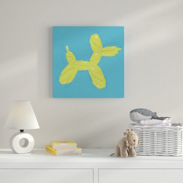 Boys Dog Painting Print on Wrapped Canvas by Zoomie Kids