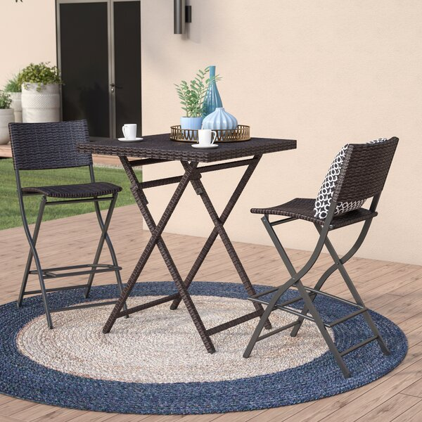 Kerr 3 Piece Bar Height Dining Set by Latitude Run