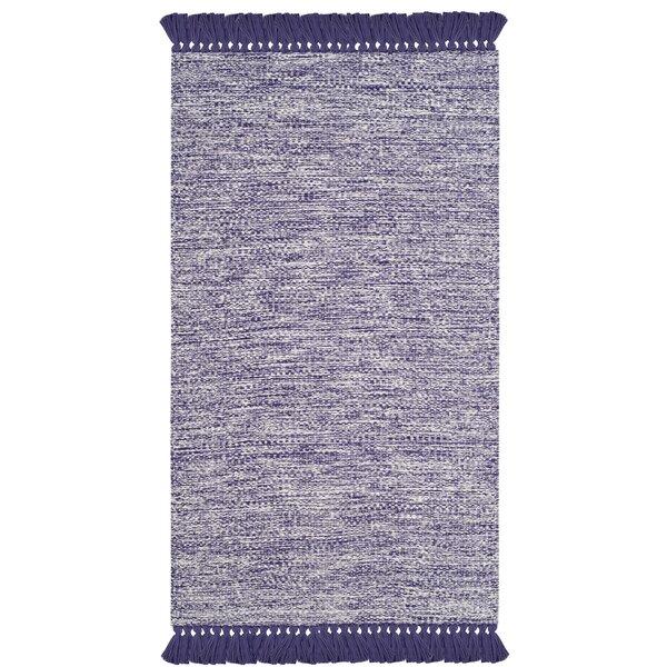 Nida Hand-Woven Purple/Gray Area Rug by Beachcrest Home