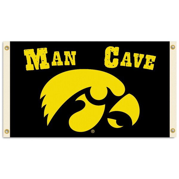 NCAA Man Cave 2-Sided Polyester 3 x 5 ft. Flag by Team Pro-Mark