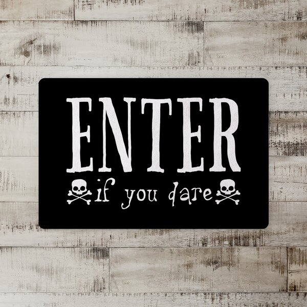 Gisela Enter If You Dare Kitchen Mat