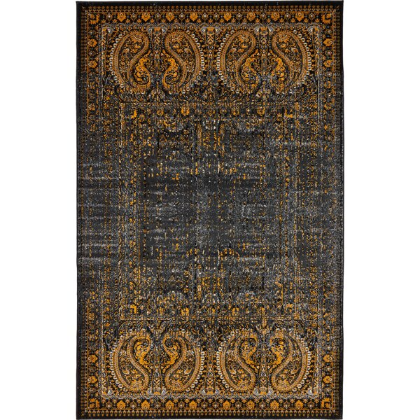 Neuilly Black/Ivory Area Rug by Mistana