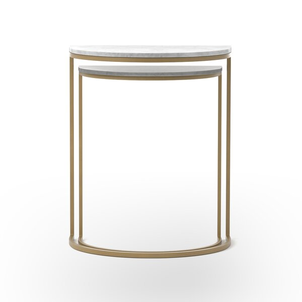 Alica Marble Top C Table Nesting Tables By Everly Quinn