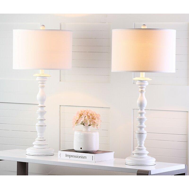 "Canvey 33"" Cream Buffet Lamp Set"
