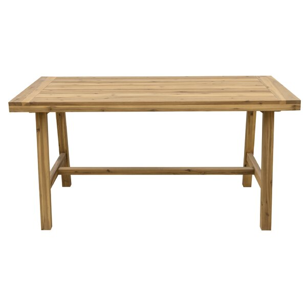 Macedonia Solid Wood Dining Table by Millwood Pines