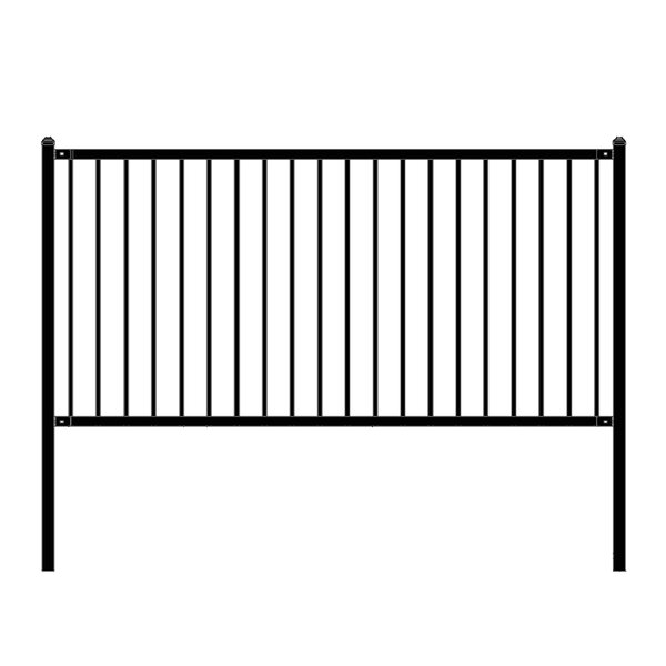 8 ft. W Lyon DIY Unassembled Steel Fence Panel by ALEKO