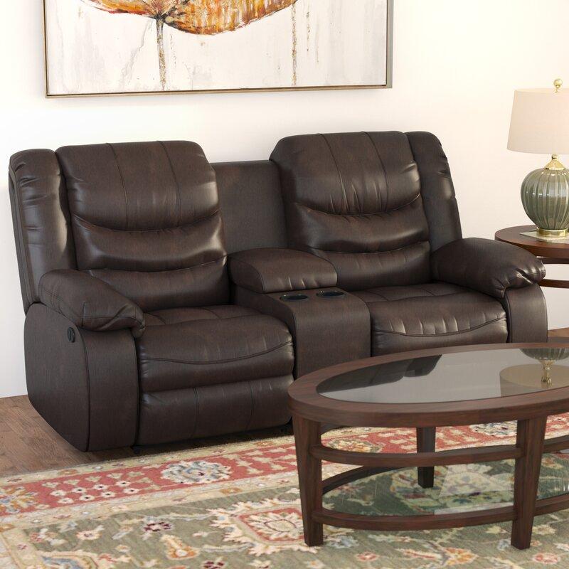 Summey Leather Reclining Sofa