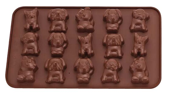 La Patisserie Non-Stick Chocolate Dogs Decorative Mold (Set of 2) by MyCuisina