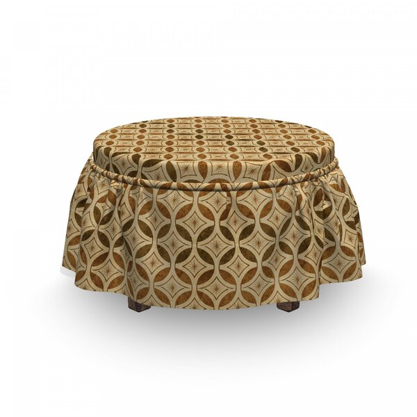 Celtic Circles Ottoman Slipcover (Set Of 2) By East Urban Home