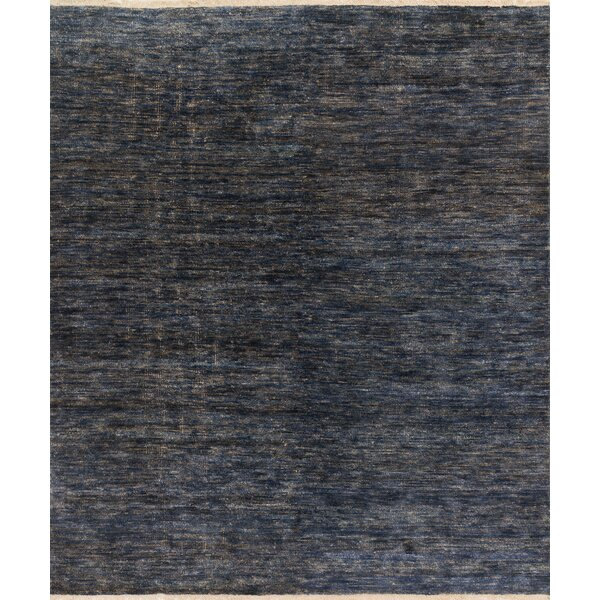 Moiseiev Hand-Knotted Blue Area Rug by Ebern Designs