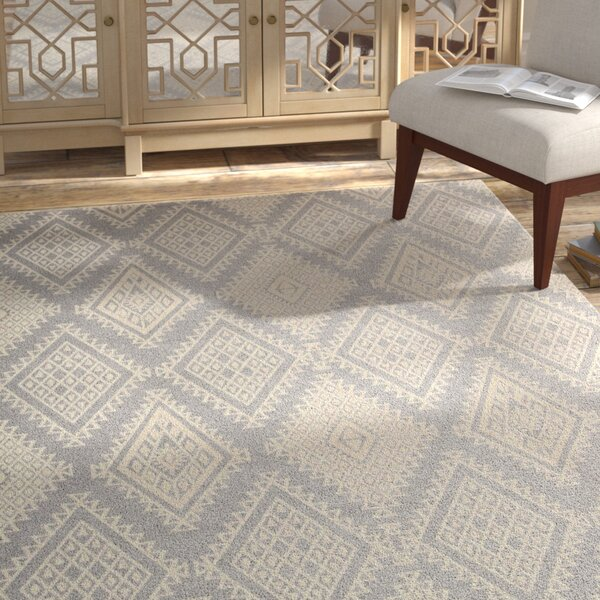 Tsukiji Gray Area Rug by Bungalow Rose