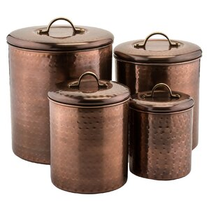 Russet 4 Piece Kitchen Canister Set