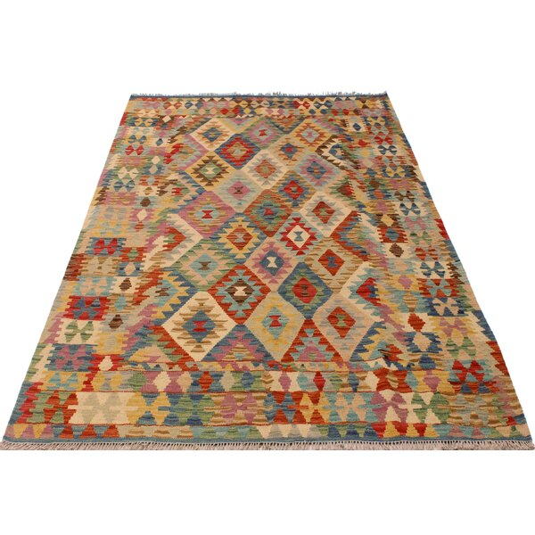 One-of-a-Kind Aalborg Kilim Hand-Woven Blue/Ivory Area Rug by Isabelline