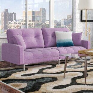 Frederick Modern Plush Tufted Convertible Sofa Zipcode Design
