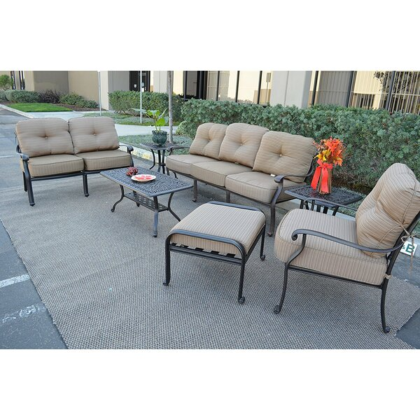 Kristy 7 Piece Sofa Set with Cushions by Darby Home Co