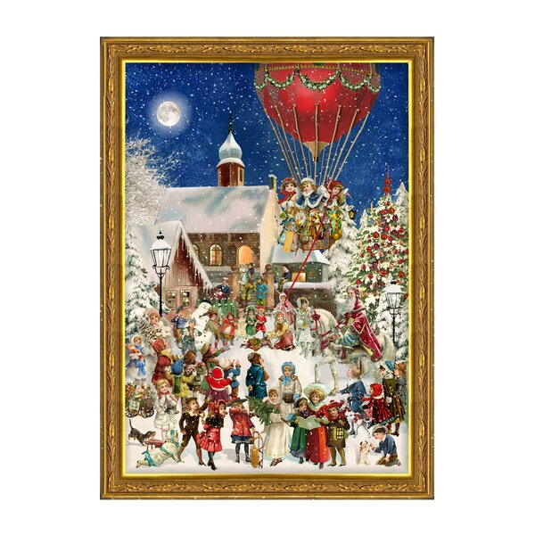 Sellmer Children with Hot Air Balloon Advent Calendar by The Holiday Aisle