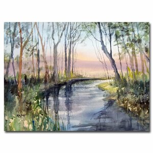 'River Reflections' by Ryan Radke Painting Print on Canvas by Trademark Fine Art
