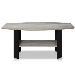 Latasha Simple Coffee Table. Espresso Dark Brown Wood ...