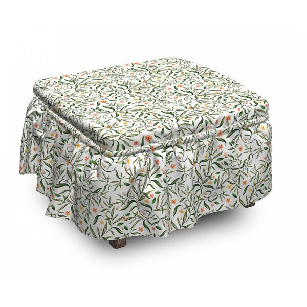 Spring Garden Ottoman Slipcover (Set Of 2) By East Urban Home