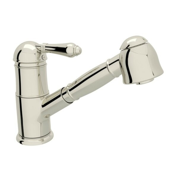 Pullout One Handle Single Hole Kitchen Faucet with Lever Handle