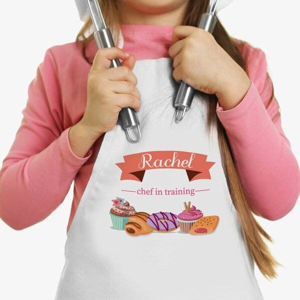 Pastry Delights Chef In Training Custom Kid Apron by Monogramonline Inc.