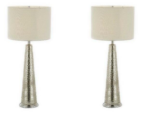 Dahlia Hammered Metal 29 Table Lamp (Set of 2) by Highland Dunes