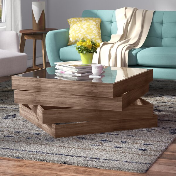 Cross Legs Coffee Table With Storage By Brayden Studio
