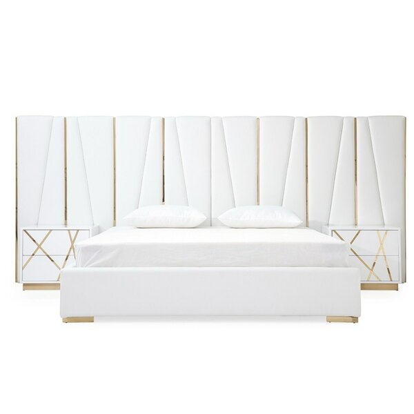 Foti King Upholstered Platform Bed by Everly Quinn