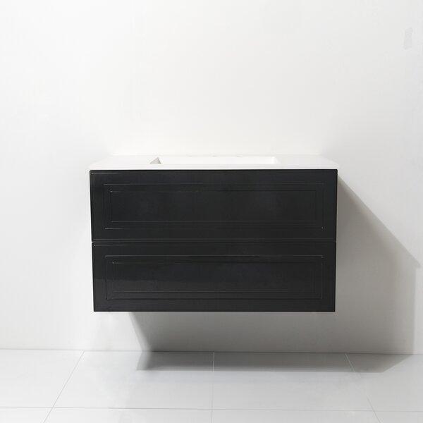 Jacinta 36 Wall-Mounted Single Bathroom Vanity Set by Latitude Run
