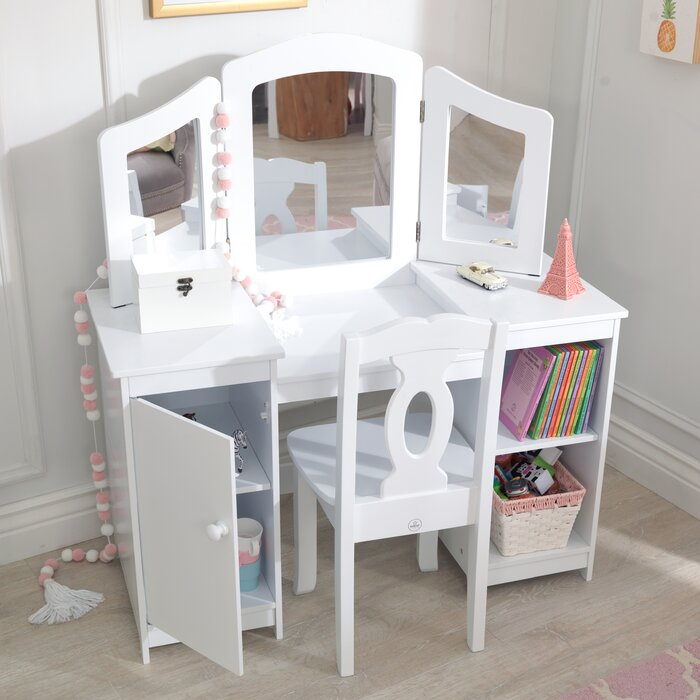 uk availability 460dd c0753 Deluxe 2 Piece Vanity Set with Mirror